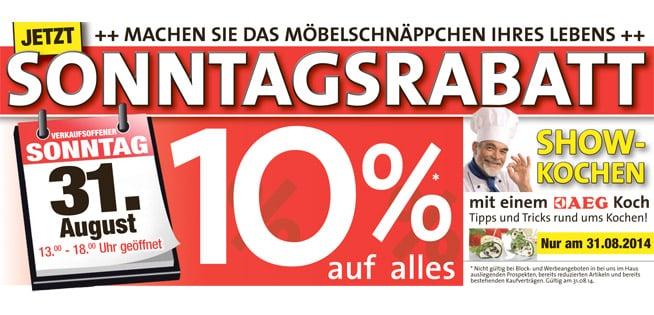 Verkaufsoffener Sonntag 31082014 Mühlenfest Möbel Köhler In