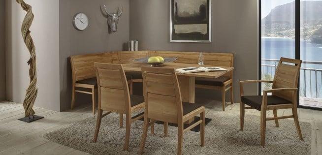 Esstisch mit Eckbank und 3 Stühlen
