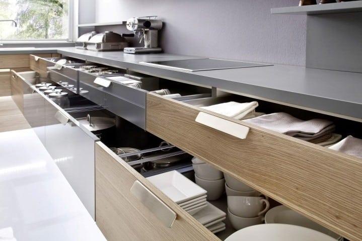 Zehn große Schubladen bieten viel übersichtlichen Stauraum