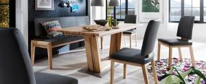 Massiver Esszimmertische mit Stühlen