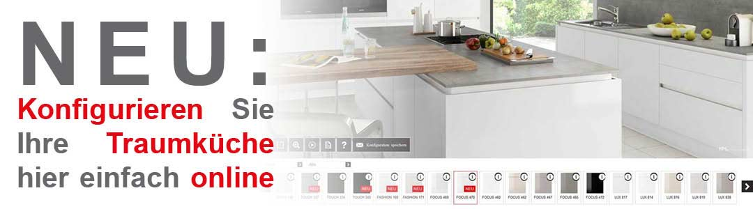 Traumküche hier online konfigurieren