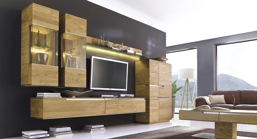 Acerro Wohnwand mit Couchtisch
