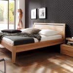 Doppelbett Casera aus Buche