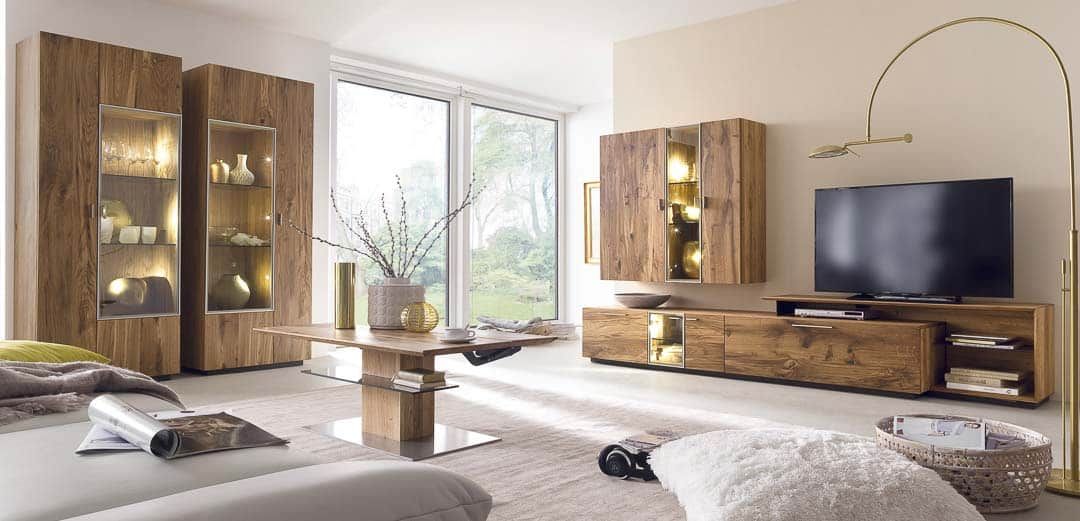 Wohnwand Reveno aus Altholz