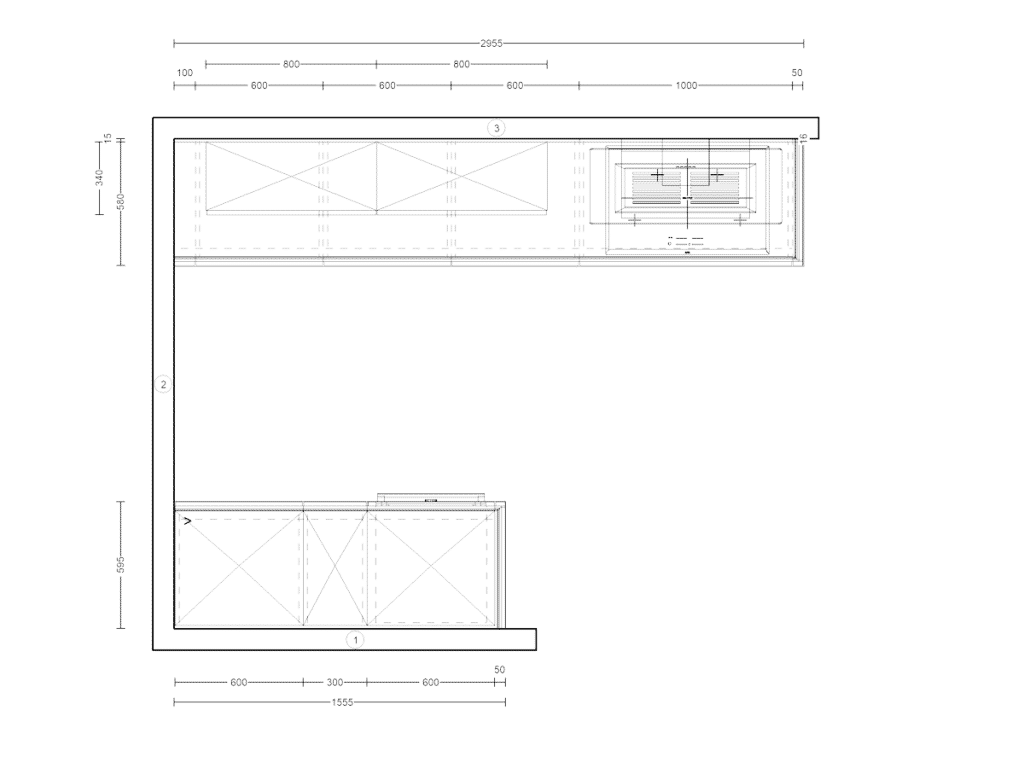 Skizze Küche 211