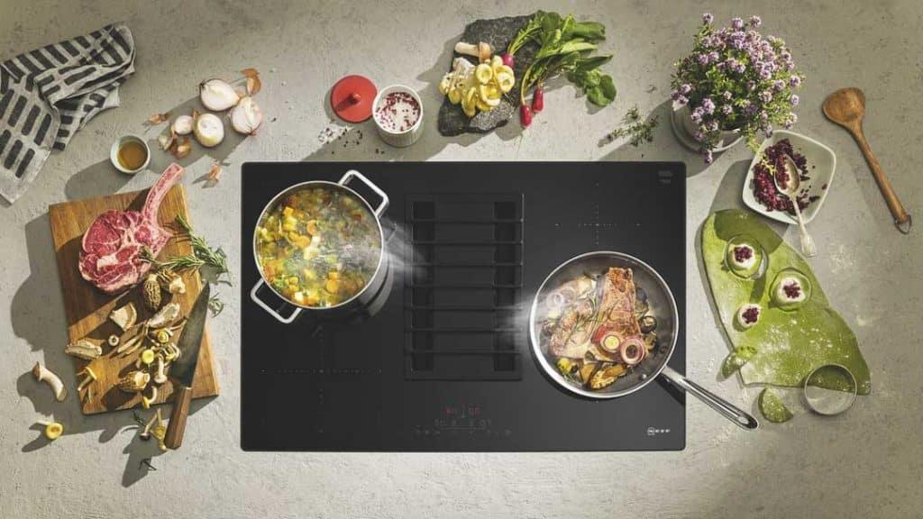 Integrierter Kochfeldabzug TPD481AX von NEFF