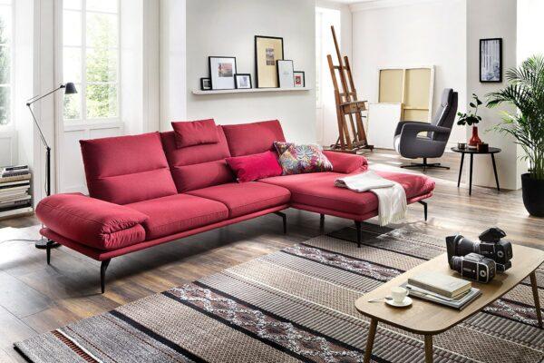 Rotes Funktionssofa TL 2380 von Angelo Divani