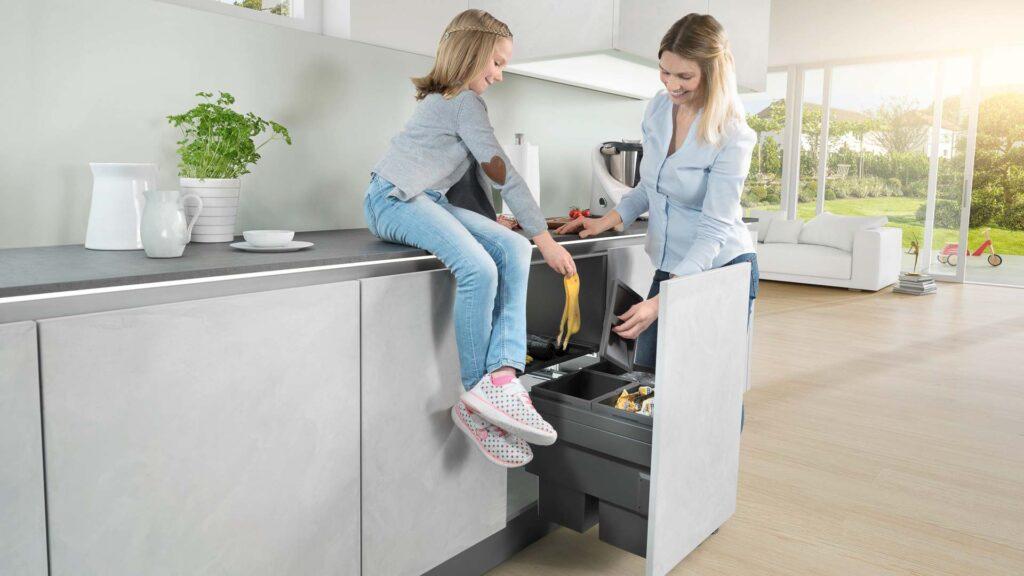 intelligente Mülltrennung in der Küche