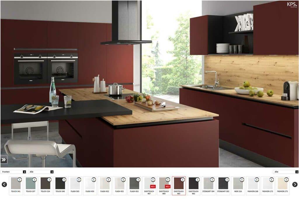 moderne Küche mit dem Küchen-Designer entwerfen