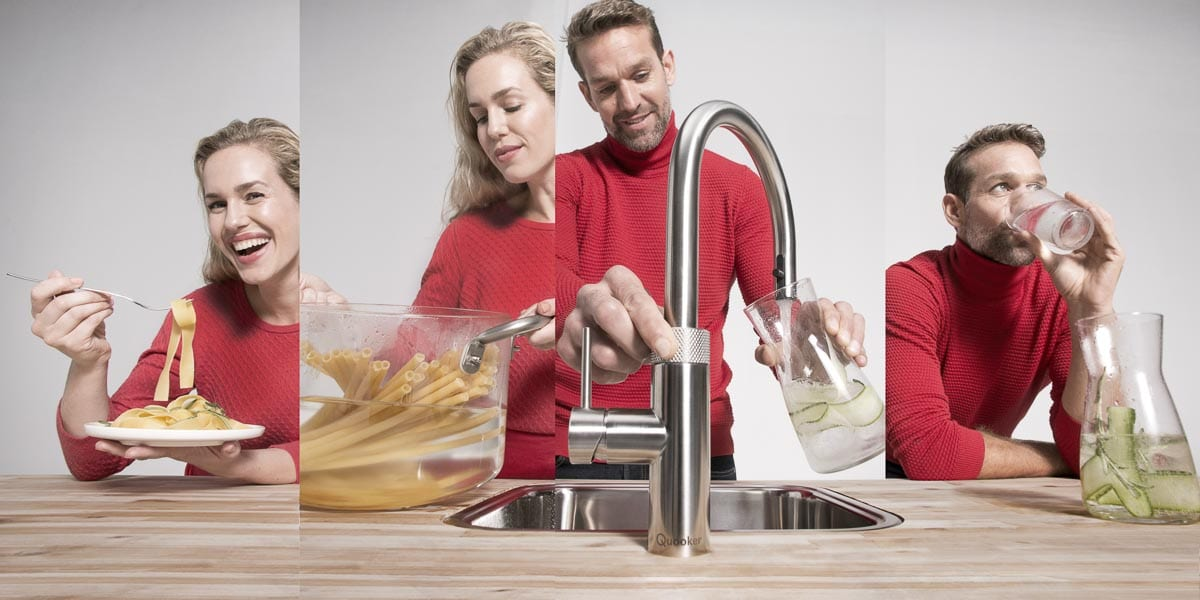 Quooker Wasserhahn für kochendes, sprudelndes und gekühltes stilles Wasser