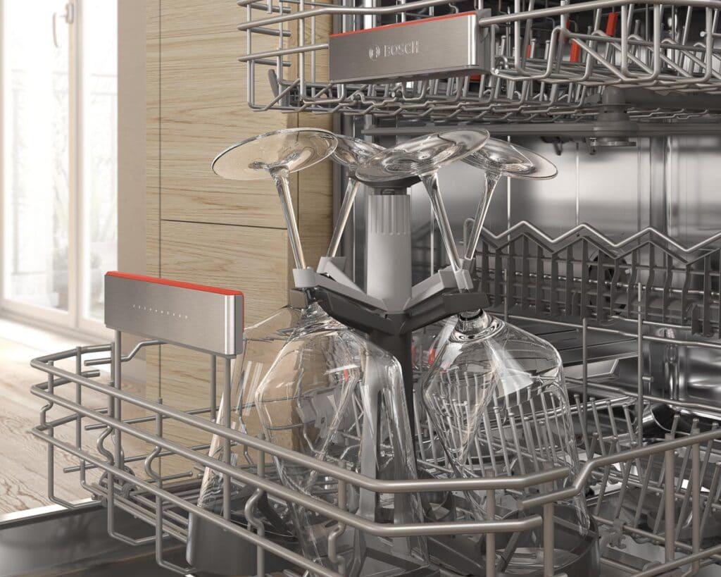Bosch Geschirrspüler mit Weingläserhalter