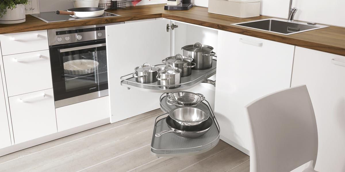 Der Kücheneckschrank im Küchenstudio Möbel Köhler in Viersen